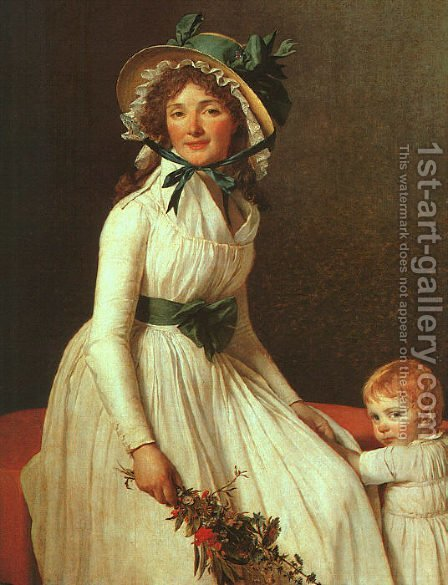 Jacques Louis David: Portrait of Madame Seriziat 1795 - reproduction oil painting