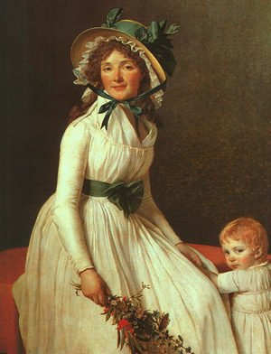 Reproduction oil paintings - Jacques Louis David - Portrait of Madame Seriziat 1795