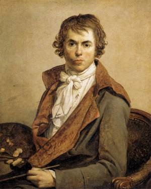 Reproduction oil paintings - Jacques Louis David - Portrait of the Artist 1794