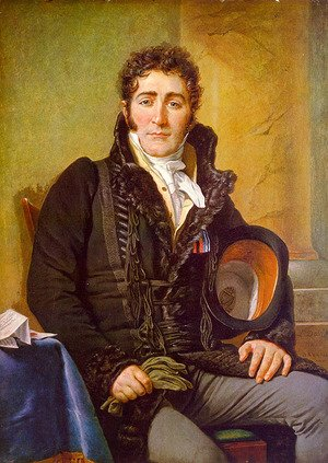 Reproduction oil paintings - Jacques Louis David - Portrait of the Count de Turenne 1816
