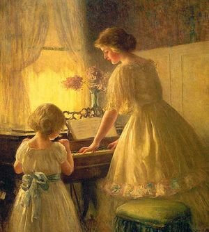 Famous paintings of Music: The Piano Lesson 1895