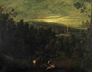 Mannerism painting reproductions: Landscape with the Good Samaritan