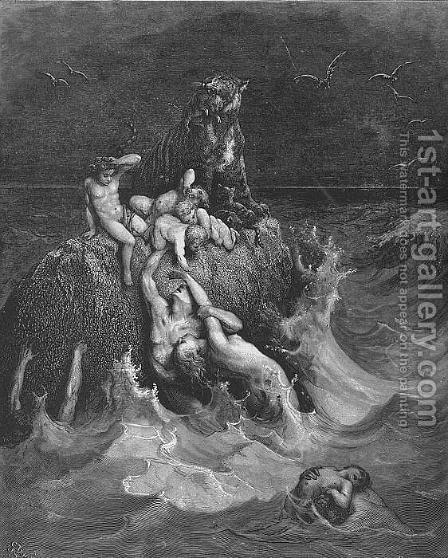 The Deluge by Gustave Dore - Reproduction Oil Painting