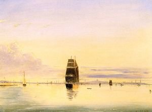 Clement Drew reproductions - Boston Harbor at Sunset 1884
