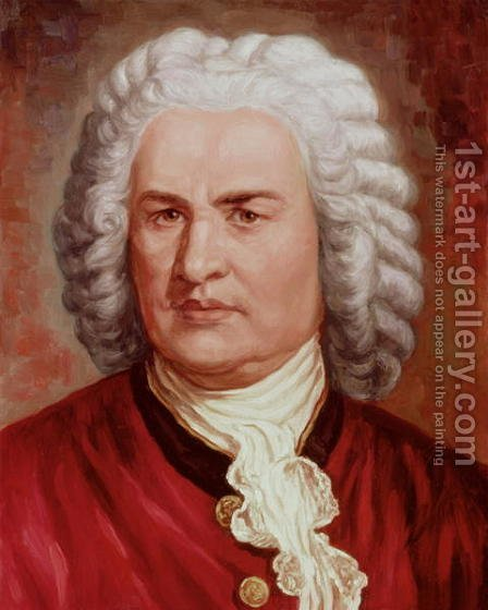 Portrait of Johann Sebastian Bach by Gustav Zerner - Reproduction Oil Painting