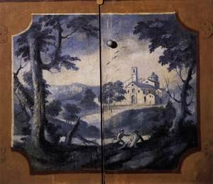 Reproduction oil paintings - Joseph Siffrein Duplessis - Landscape in Blue Monochrome 1780s