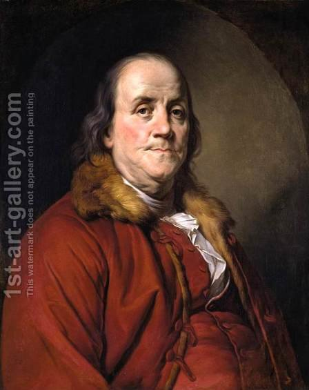 Joseph Siffrein Duplessis: Portrait of Benjamin Franklin 1778 - reproduction oil painting