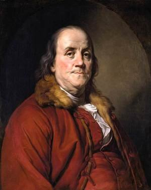 Joseph Siffrein Duplessis reproductions - Portrait of Benjamin Franklin 1778