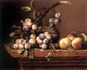 Plums and Peaches on a Table 1650