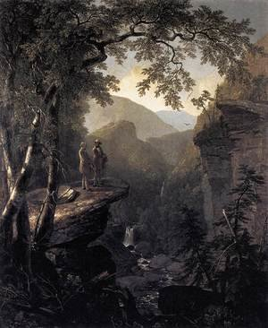 Romanticism painting reproductions: Kindred Spirits 1849