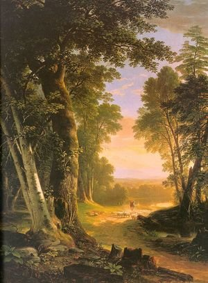 Romanticism painting reproductions: The Beeches 1845