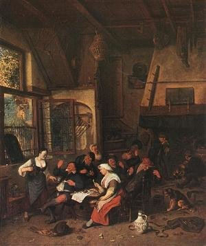 Famous paintings of Taverns: Tavern Scene