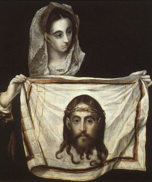 Mannerism painting reproductions: St Veronica Holding the Veil c. 1580
