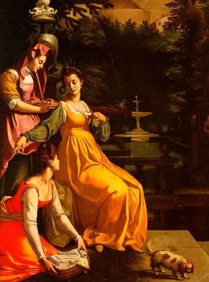 Mannerism painting reproductions: Susanna and the Elders 1600