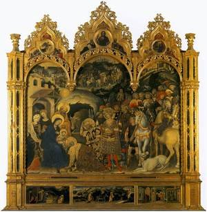 Medieval & Gothic Art painting reproductions: The Adoration of the Magi 1422