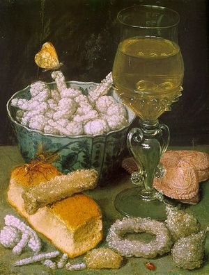 Famous paintings of Desserts: Still Life with Bread and Confectionery