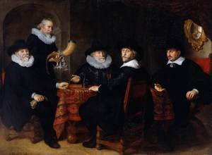 Reproduction oil paintings - Govert Teunisz. Flinck - Four Governors of the Arquebusiers Civic Guard, Amsterdam 1642