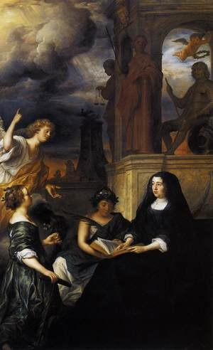 Reproduction oil paintings - Govert Teunisz. Flinck - Hope Comes to Amalia van Solms at the Tomb of Frederik Hendrik 1654