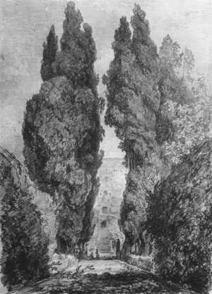 Cypresses in the Garden Avenue of the Villa c. 1760