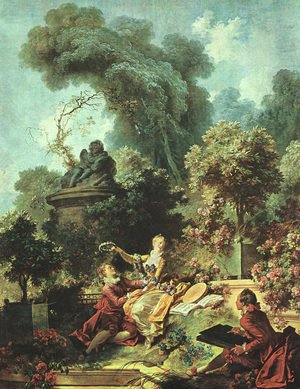 Reproduction oil paintings - Jean-Honore Fragonard - The Lover Crowned 1771-73