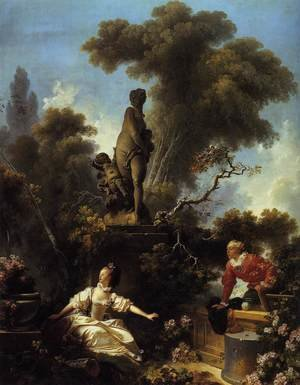 Reproduction oil paintings - Jean-Honore Fragonard - The Progress of Love: The Meeting 1773