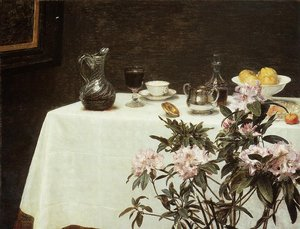 Realism painting reproductions: Still Life- The Corner of a Table 1873