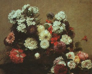 Realism painting reproductions: Still Life with Flowers 1881