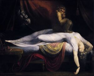 Famous paintings of Fantasy, Mythology, Sci-Fi: The Nightmare 1781