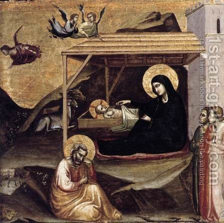 Nativity c. 1325 by Agnolo Gaddi - Reproduction Oil Painting