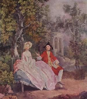 Reproduction oil paintings - Thomas Gainsborough - Conversation in a Park c. 1740