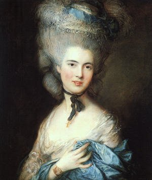 Portrait of a Lady in Blue 1777-79