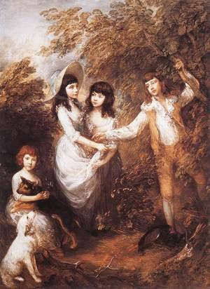 Reproduction oil paintings - Thomas Gainsborough - The Marsham Children 1787