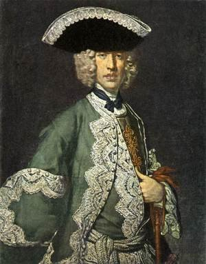 Vittore Ghislandi reproductions - Portrait of a Gentleman 1730s