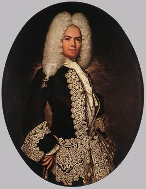 Vittore Ghislandi reproductions - Portrait of a Gentleman c. 1730