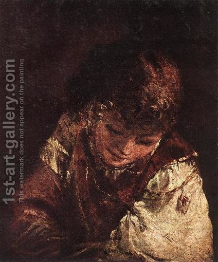 Portrait of a Boy c. 1700 by Aert De Gelder - Reproduction Oil Painting