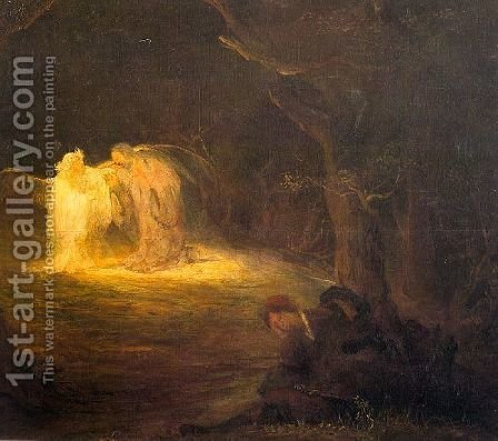Christ on the Mount of Olives by Aert De Gelder - Reproduction Oil Painting