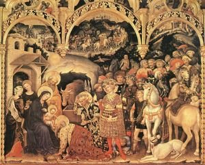 Medieval & Gothic Art painting reproductions: Adoration of the Magi (2) 1423
