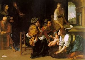 Reproduction oil paintings - Artemisia Gentileschi - Birth of St John the Baptist c. 1635