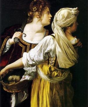 Reproduction oil paintings - Artemisia Gentileschi - Judith and her Maidservant 1612-13