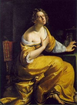 Reproduction oil paintings - Artemisia Gentileschi - Mary Magdalen 1613-20