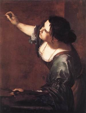 Artemisia Gentileschi reproductions - Self-Portrait as the Allegory of Painting 1630s