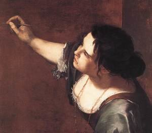 Reproduction oil paintings - Artemisia Gentileschi - Self-Portrait as the Allegory of Painting (detail) 1630s
