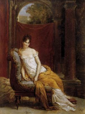 Famous paintings of Furniture: Madame Recamier 1802