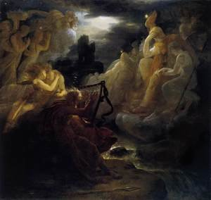 Ossian Awakening the Spirits on the Banks of the Lora with the Sound of his Harp after 1801