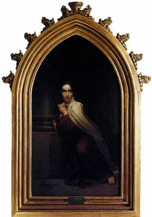 Romanticism painting reproductions: St Theresa 1827