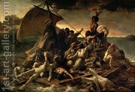 Theodore Gericault: The Raft of the Medusa 1818-19 - reproduction oil painting
