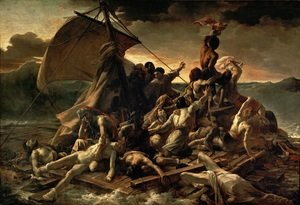 Famous paintings of Ships & Boats: The Raft of the Medusa 1818-19