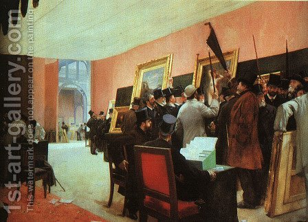 A Painting Jury  1885 by Henri Gervex - Reproduction Oil Painting