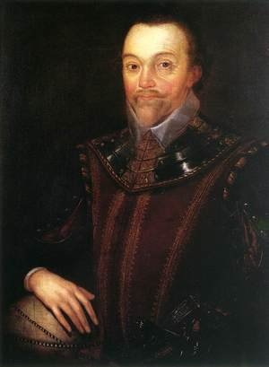 Famous paintings of Men: Sir Francis Drake after 1590