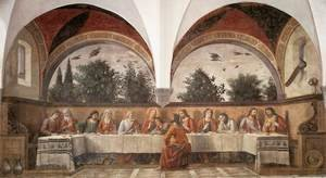 Reproduction oil paintings - Domenico Ghirlandaio - Last Supper 1480